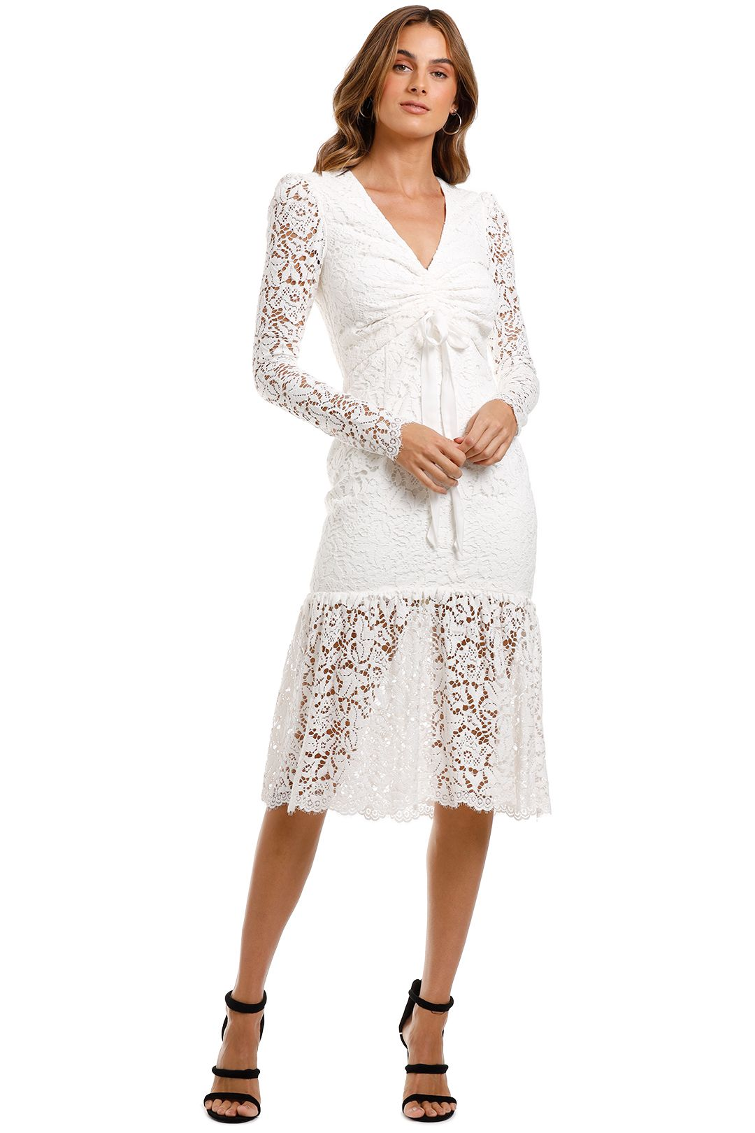 Rebecca Vallance Le Saint Ruched Dress White