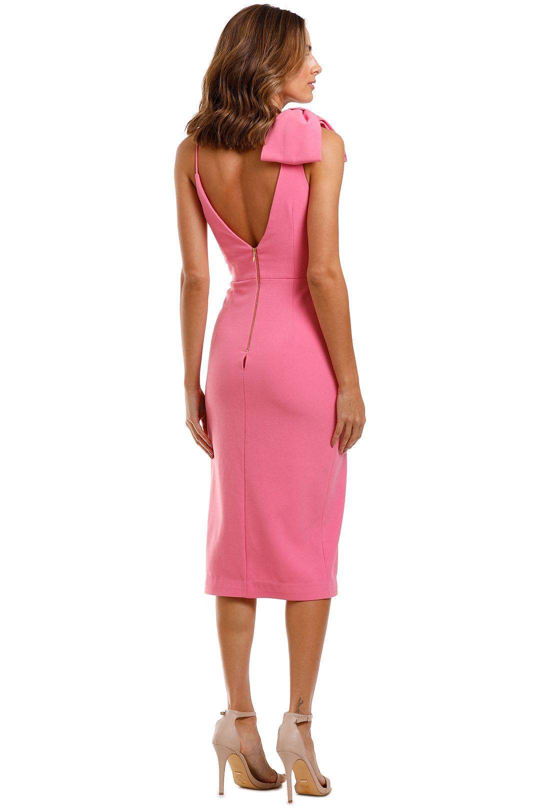 Rebecca Vallance Love Bow Dress Pink V Neck