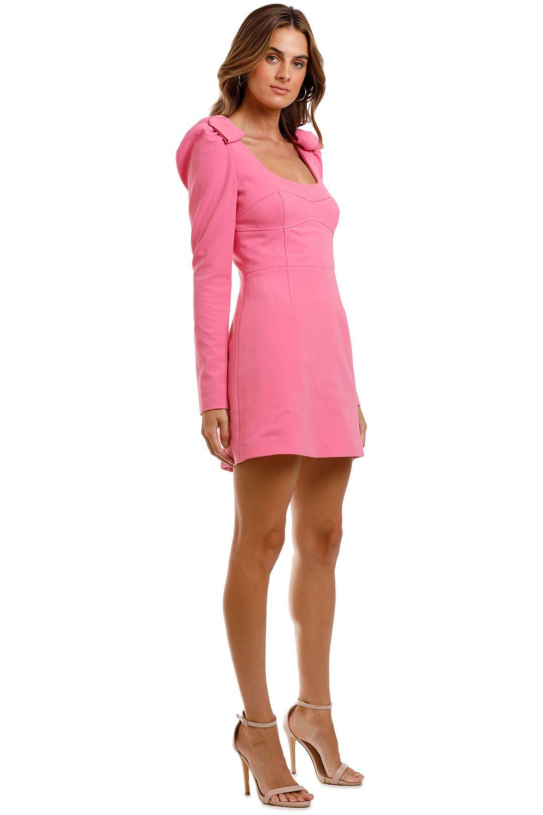 Rebecca Vallance Love Mini Dress Pink Long Sleeve