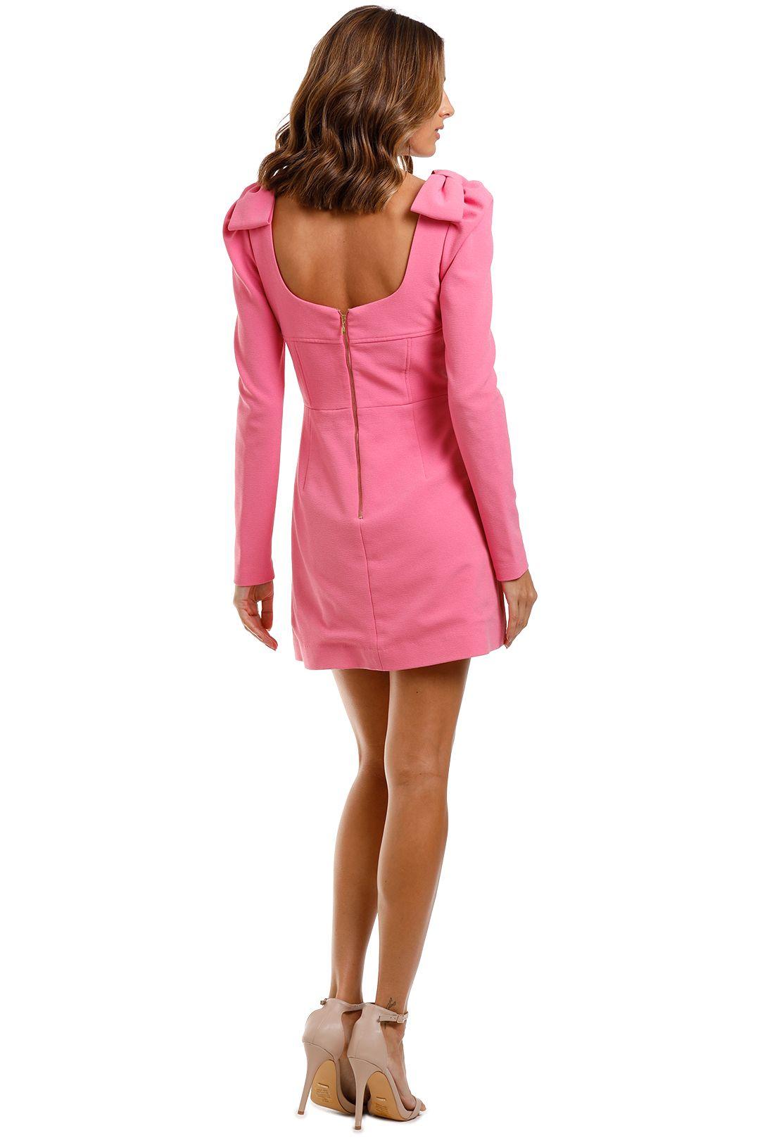 Rebecca Vallance Love Mini Dress Pink Scoop Neck