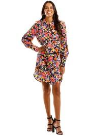 Rebecca Vallance Soho LS Mini Dress Floral Abstract Print