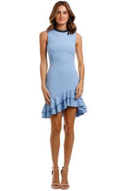 Rebecca Vallance Yves Mini Dress Blue Mini Length