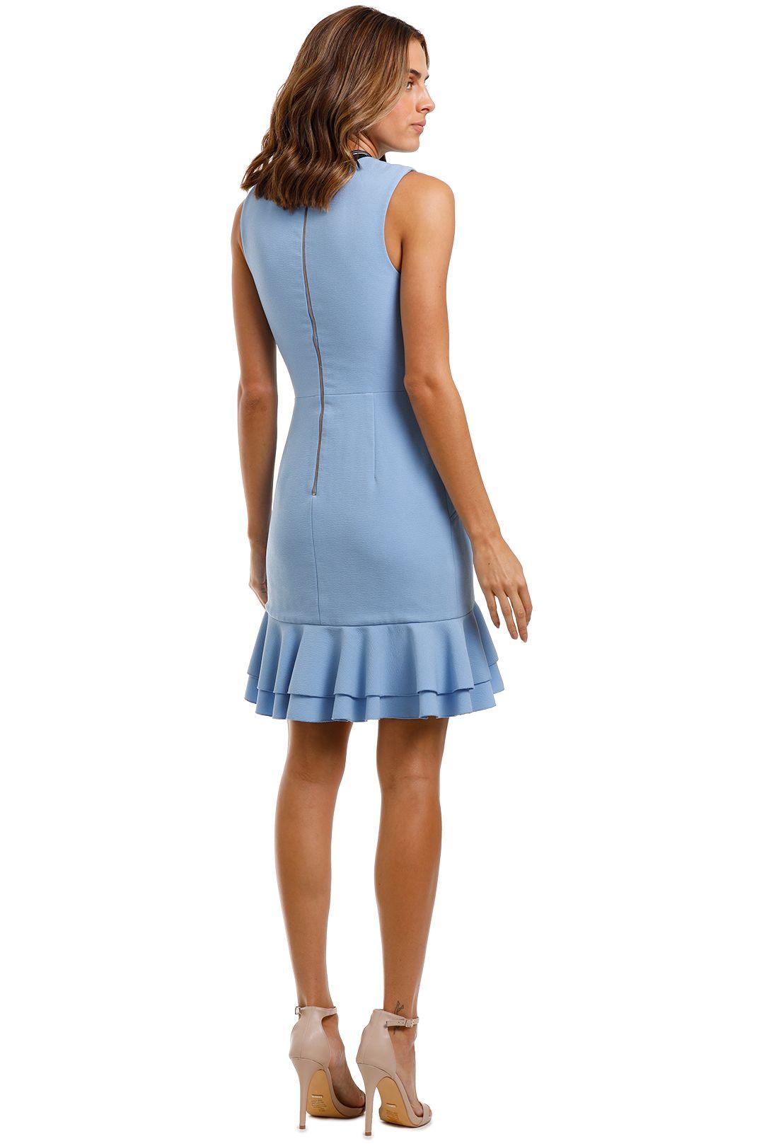 Rebecca Vallance Yves Mini Dress Blue Zip Closure