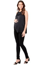 Ripe-Maternity-Asymmetric-Nursing-Top-Black-Front