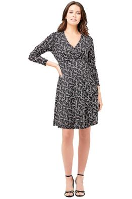 Ripe-Maternity-Blossom-Wrap-Dress-Black-Front