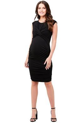 Ripe-Maternity-Cross-My-Heart-Dress-Black-Front