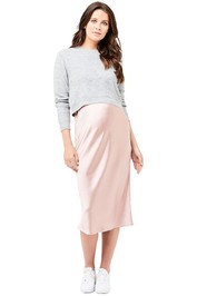 Ripe-Maternity-Lexie-Satin-Skirt-Dusty-Pink-Front