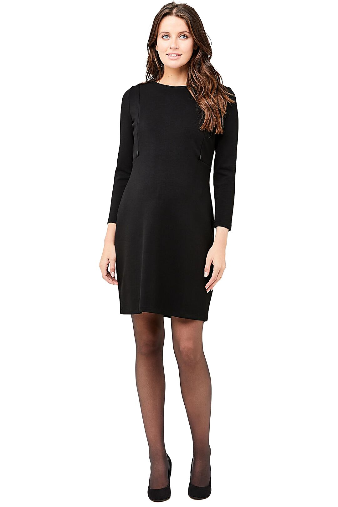 Ripe-Maternity-Sandra-Nursing-Dress-Black-Front