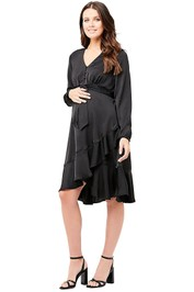 Ripe-Maternity-Satin-Front-Dress-Black-Front