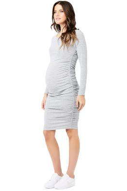 Ripe-Maternity-Textured-Knit-Cocoon-Dress-Ash-Front