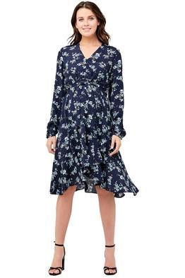 Ripe Maternity-Juliette-Tie-Front-Dress-Powder-Blue-Front