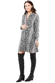 Ripe Maternity-Snake-Print-Shirt-Dress-Multi-Front
