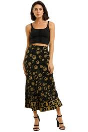 Rixo-London-Kelly-Skirt-Spot-Black-Front