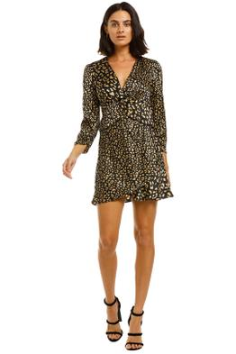Rixo-London-Lilly-Long-Sleeves-Mini-Dress-Front