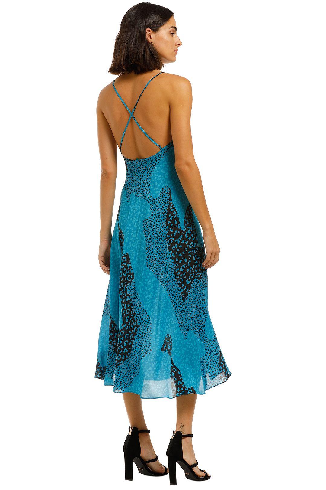Rixo-London-Sylvie-Dress-Blue-Back