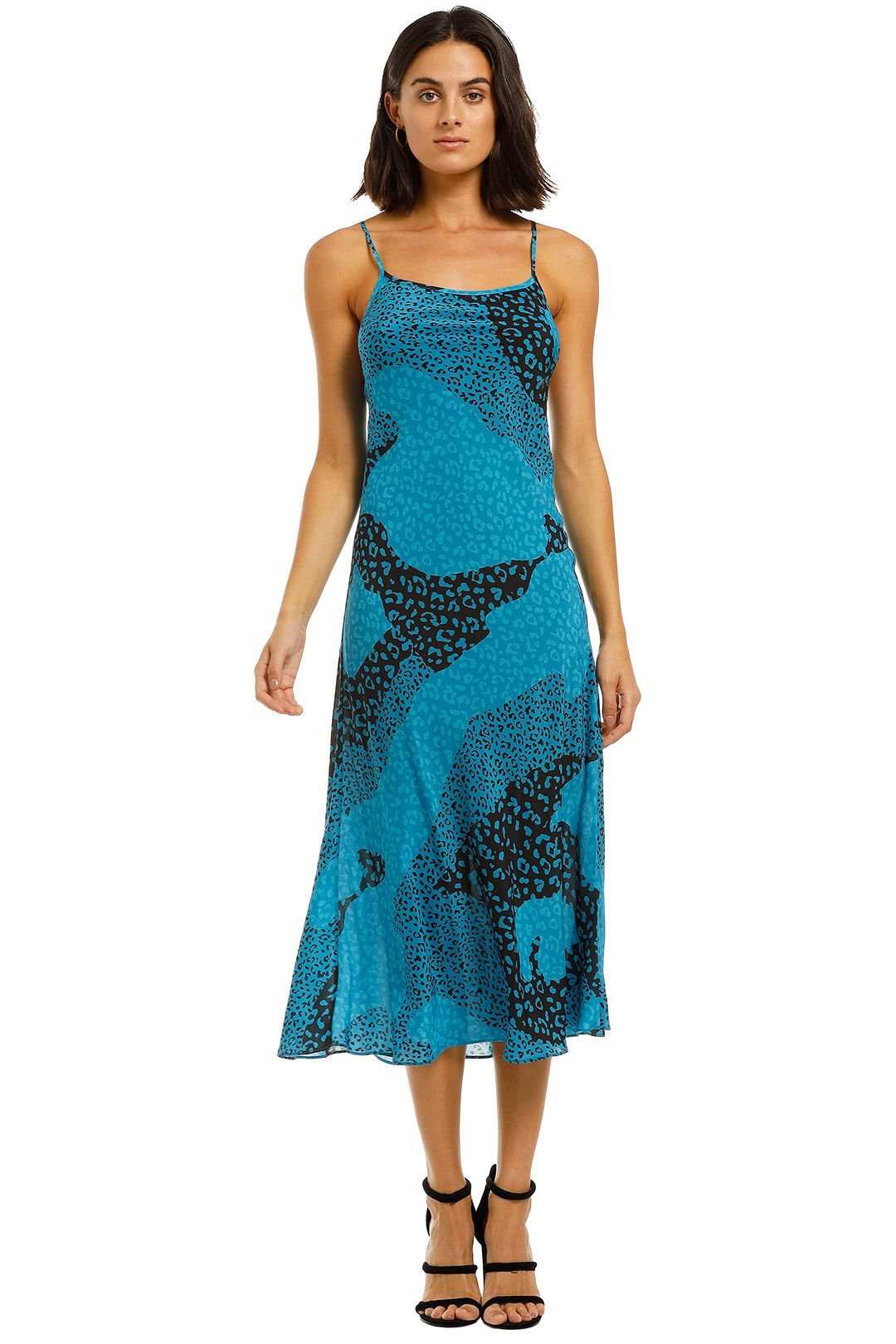 Rixo-London-Sylvie-Dress-Blue-Front
