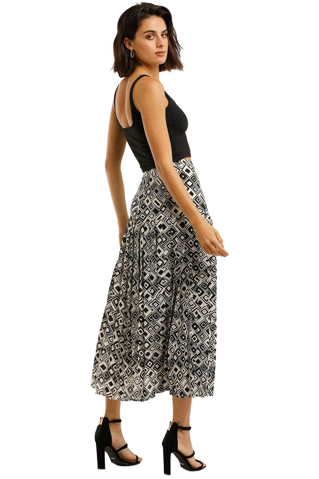 Rixo-London-Tina-Skirt-Mono-Square-Back