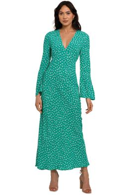 Rixo London Arielle Flared Sleeve Midi Dress