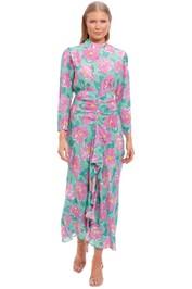 Rixo London Cherie High Neck Maxi Dress
