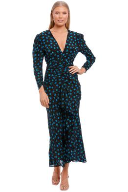 Rixo London Paloma Open Back Midaxi Dress