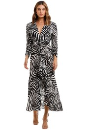 Rixo London Paloma Zebra Maxi Dress