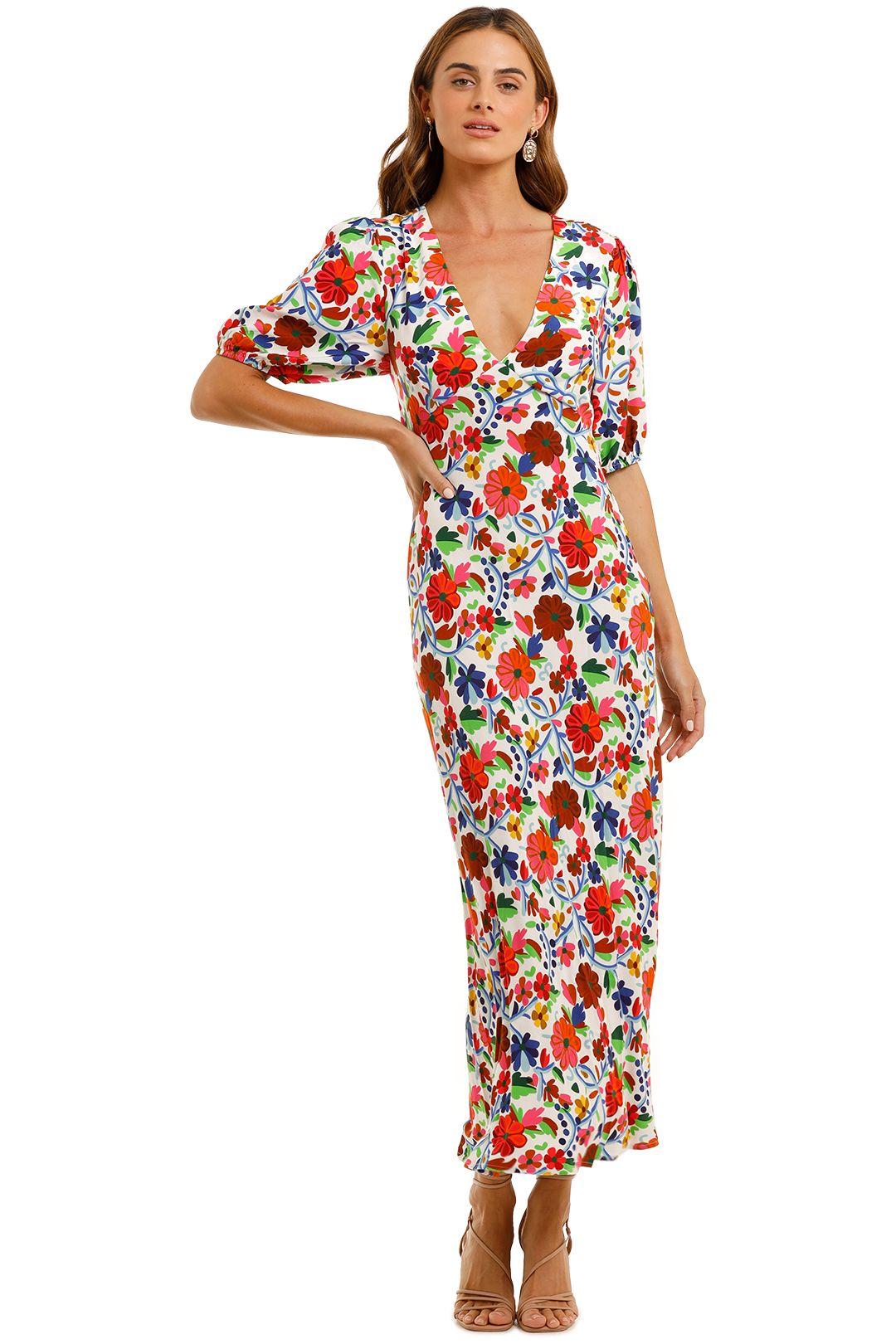 Rixo London Steph Crepe Midi Dress