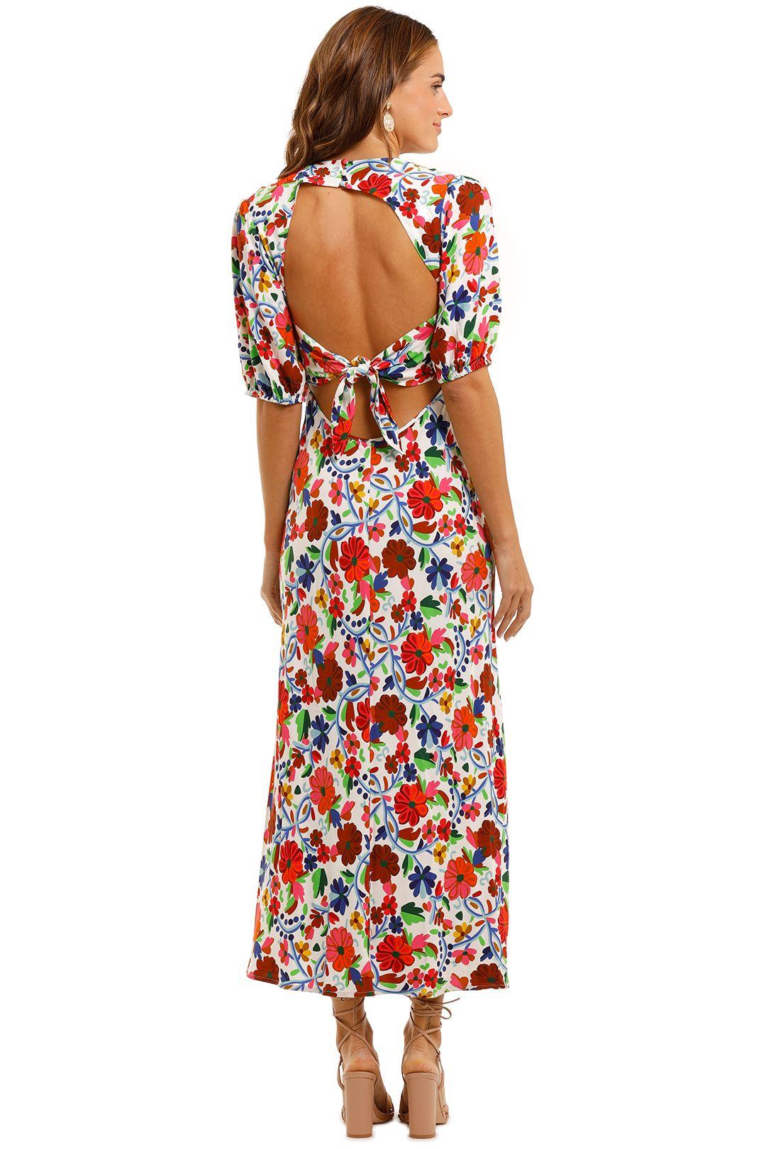 Rixo London Steph Crepe Midi Dress Backless