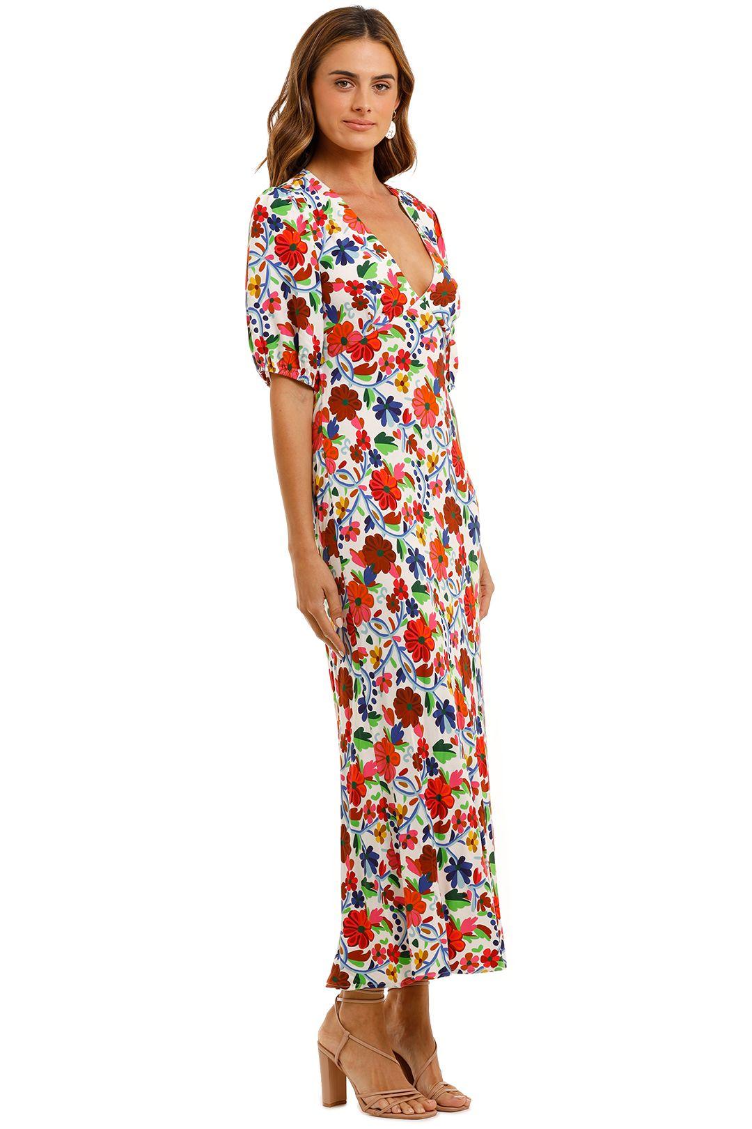 Rixo London Steph Crepe Midi Dress Floral