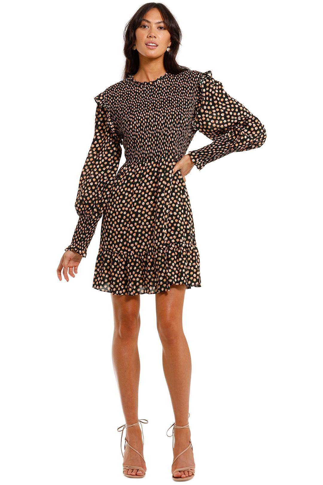 Rixo London Talisa Long Sleeve Mini Dress