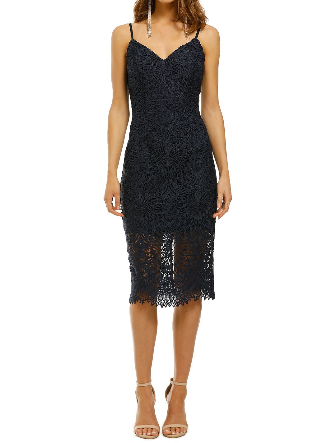 Rodeo-Show-Archer-Lace-Dress-Navy-Front