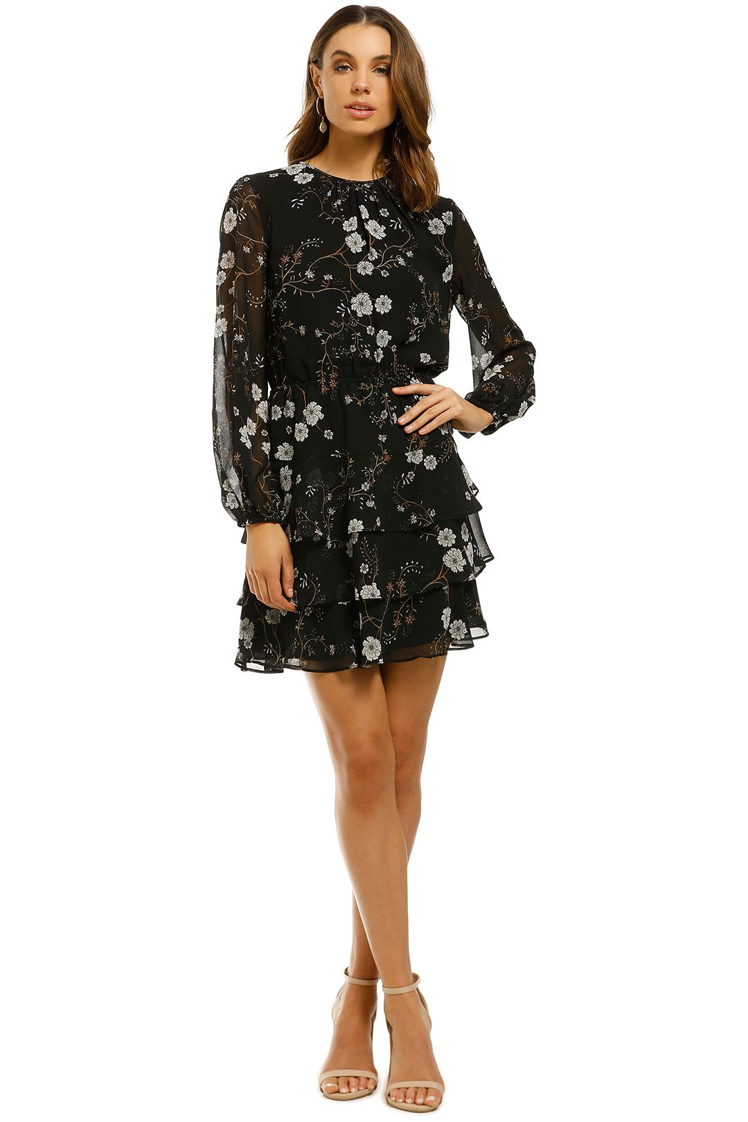 Rodeo-Show-Isabella-Mini-Dress-Black-Floral-Front