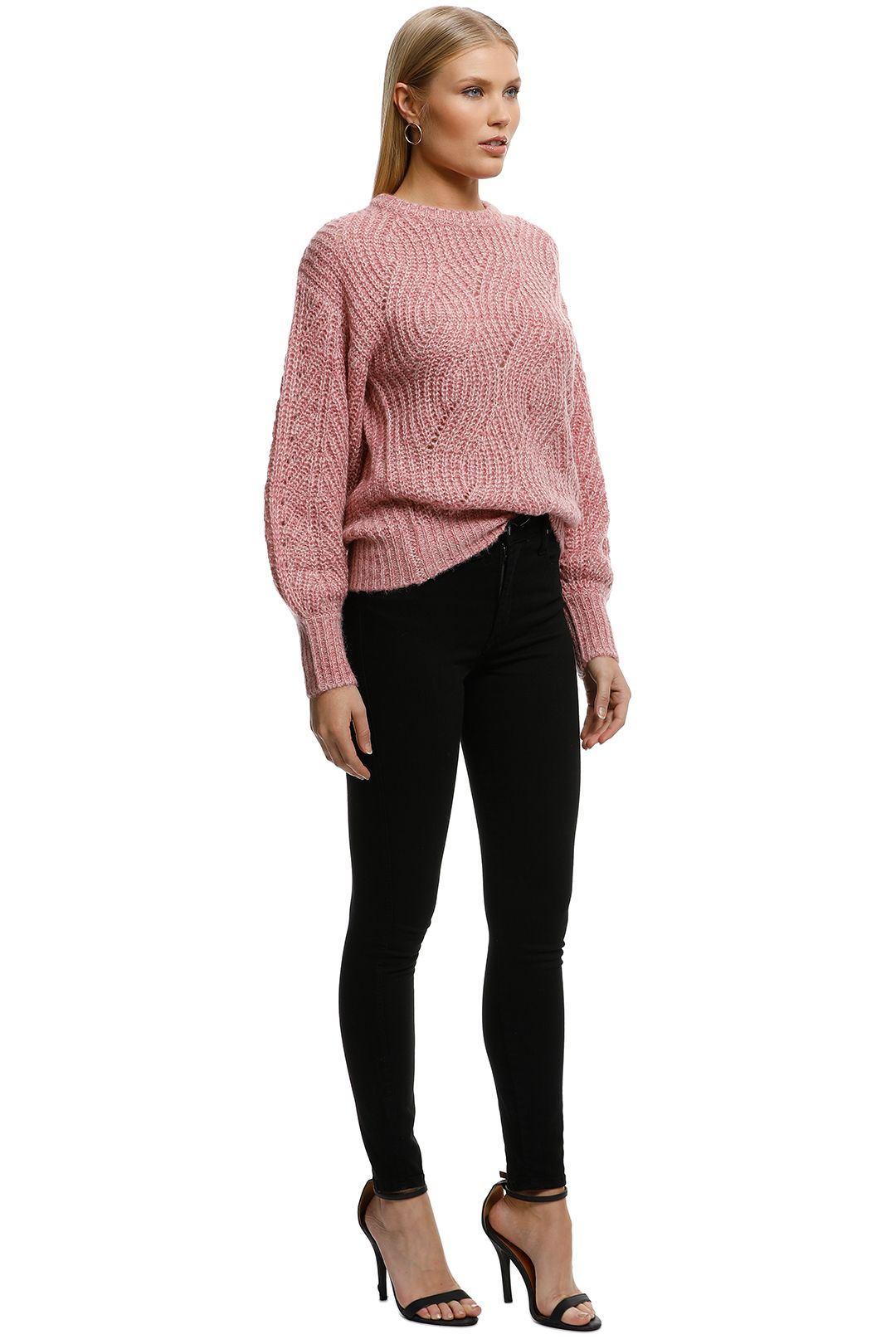 Rodeo Show-Claudie Knit-Pink-Side