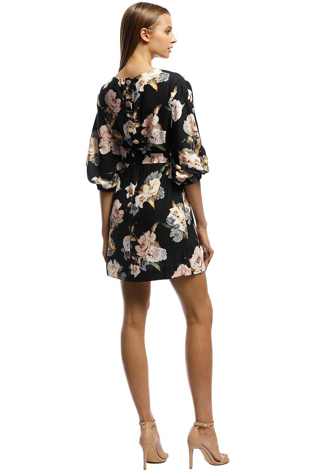 Rodeo Show-Natalia Mini Dress-Black Floral-Back