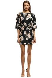 Rodeo Show-Natalia Mini Dress-Black Floral-Front