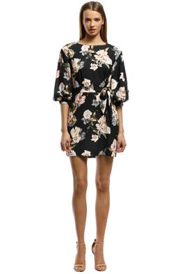 Rodeo Show-Natalia Mini Dress-Black Floral-Front