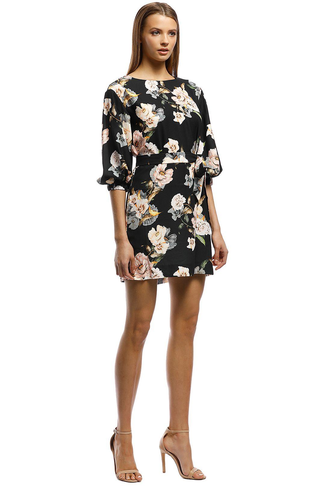 Rodeo Show-Natalia Mini Dress-Black Floral-Side