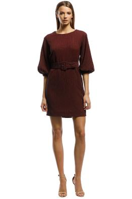 Rodeo Show-Sabrina Mini Dress-Plum-Front