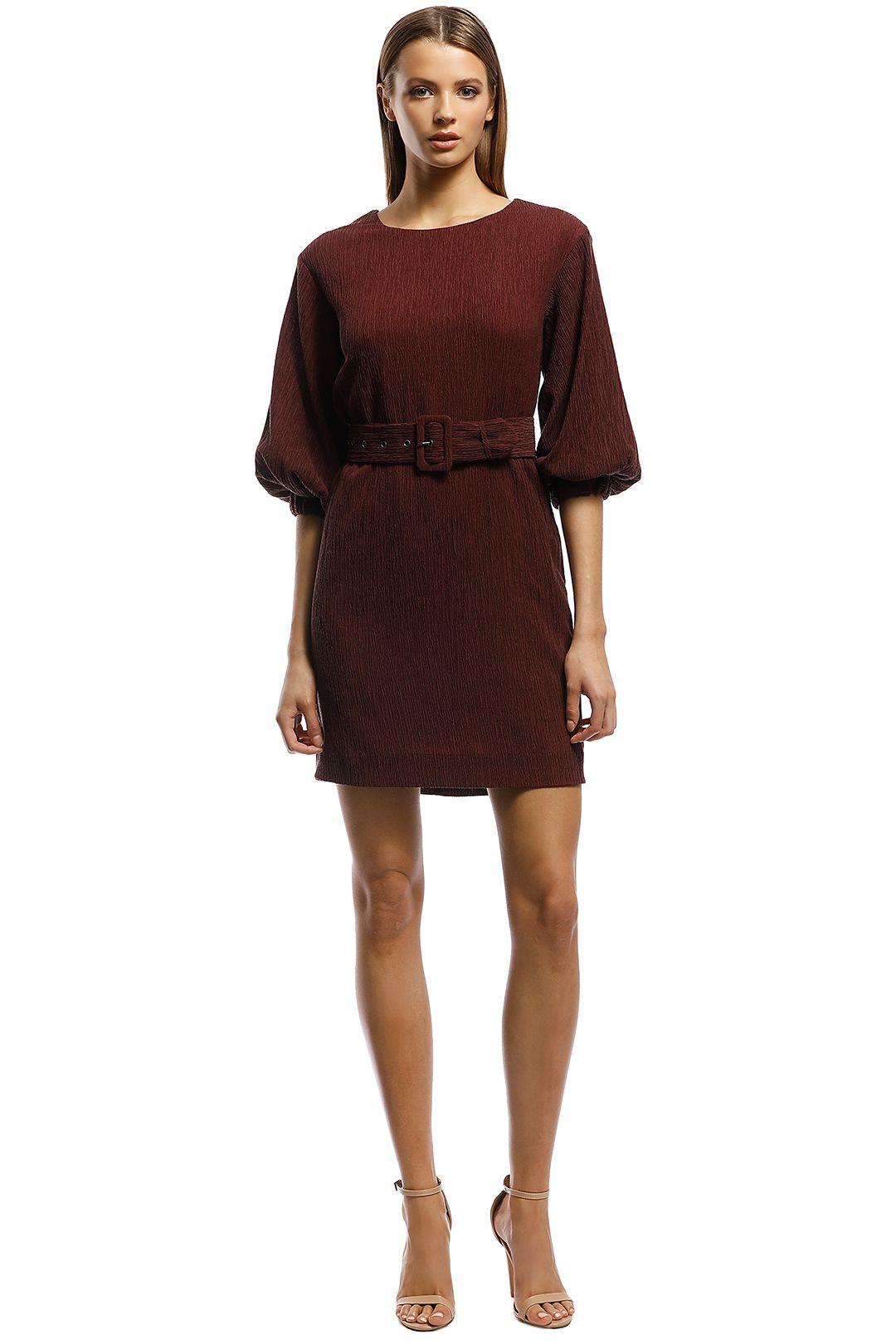 Rodeo Show-Sabrina Mini Dress-Plum-Front