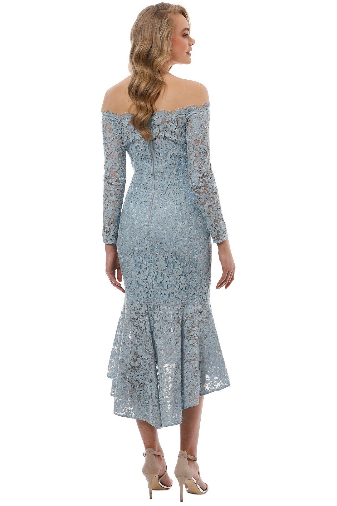 Rodeo Show - Abella Lace Dress - Blue - Back