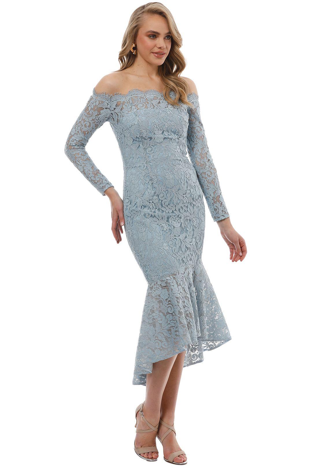 Rodeo Show - Abella Lace Dress - Blue - Side