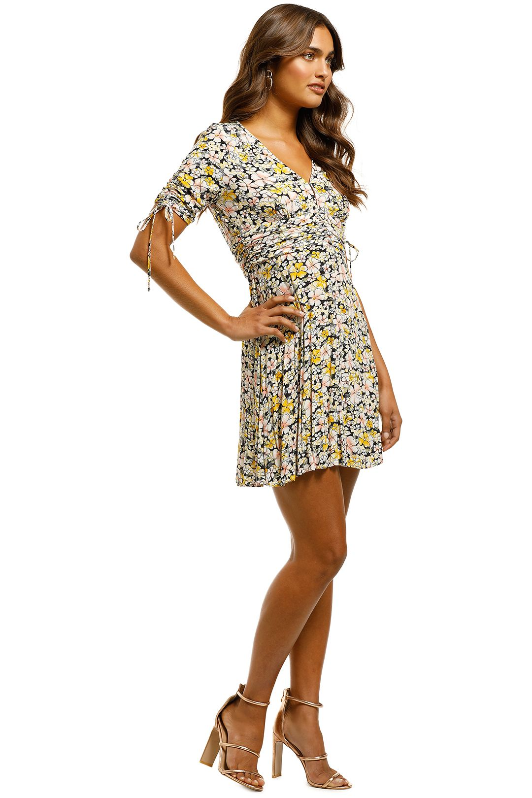 Rodeo Show - Billie Mini Dress - Floral - Side