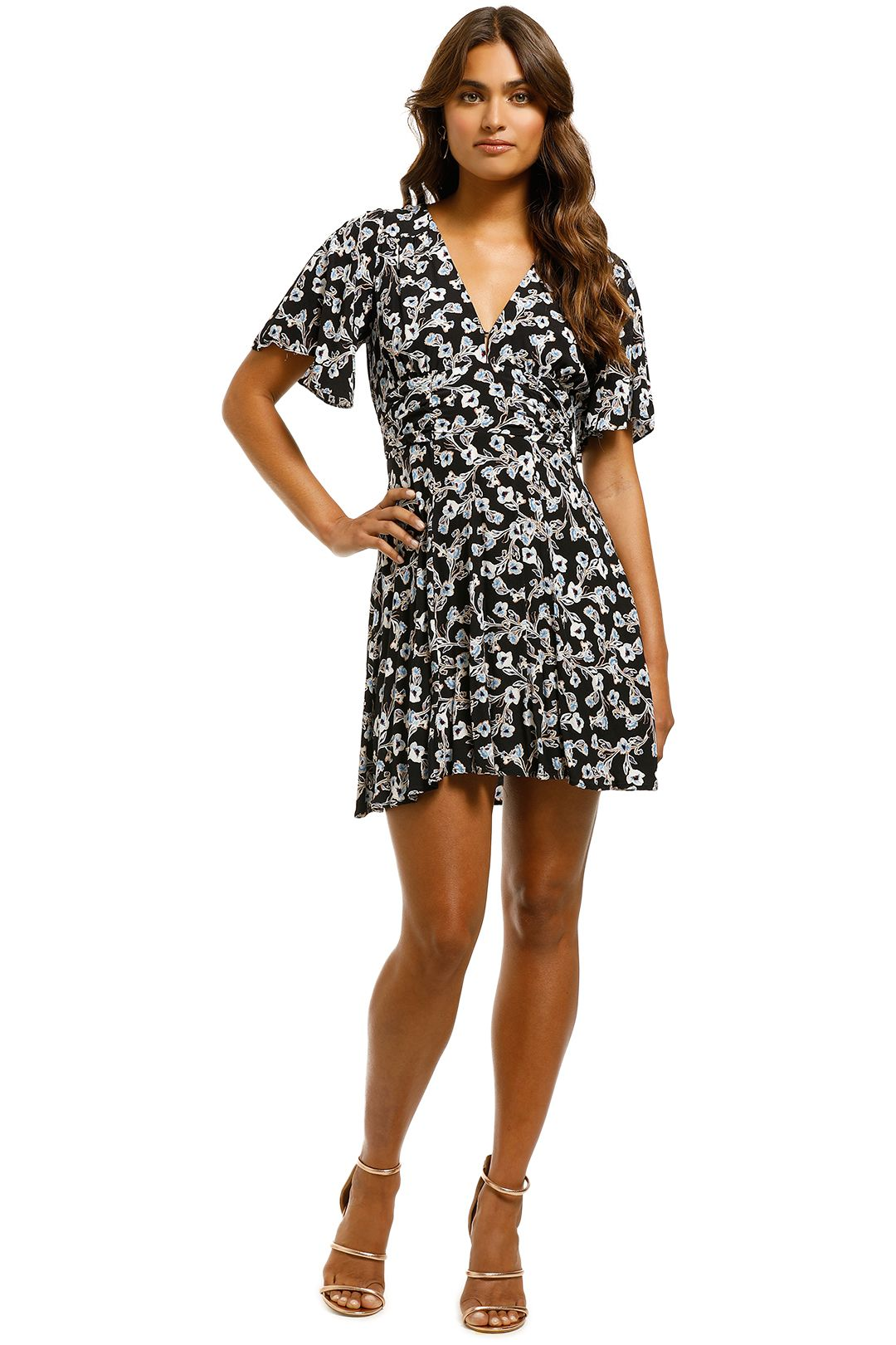 Rodeo Show - Bloom Mini Dress - Black - Front