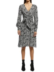 Rodeo Show - Blossom Midi Dress - Black/White - Front