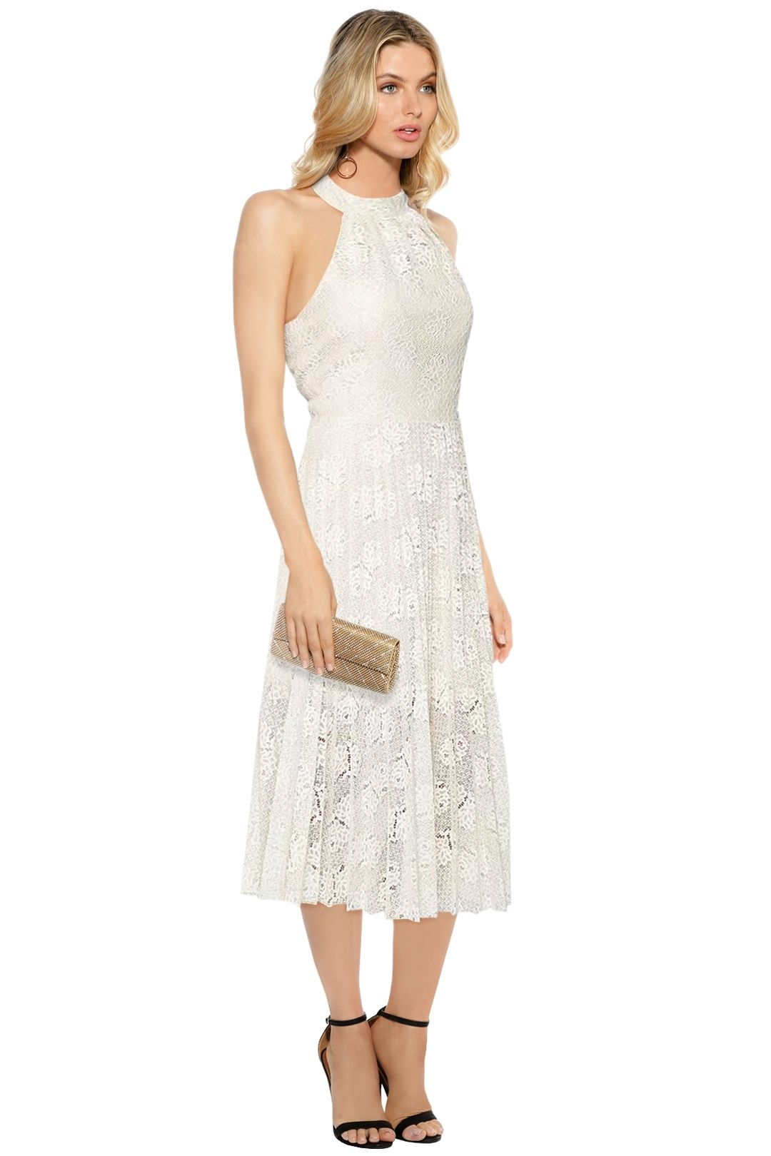 Rodeo Show - Ivory Manette Dress - Ivory - Side