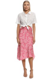 Rodeo Show - Madison Midi Skirt - Pink - Front