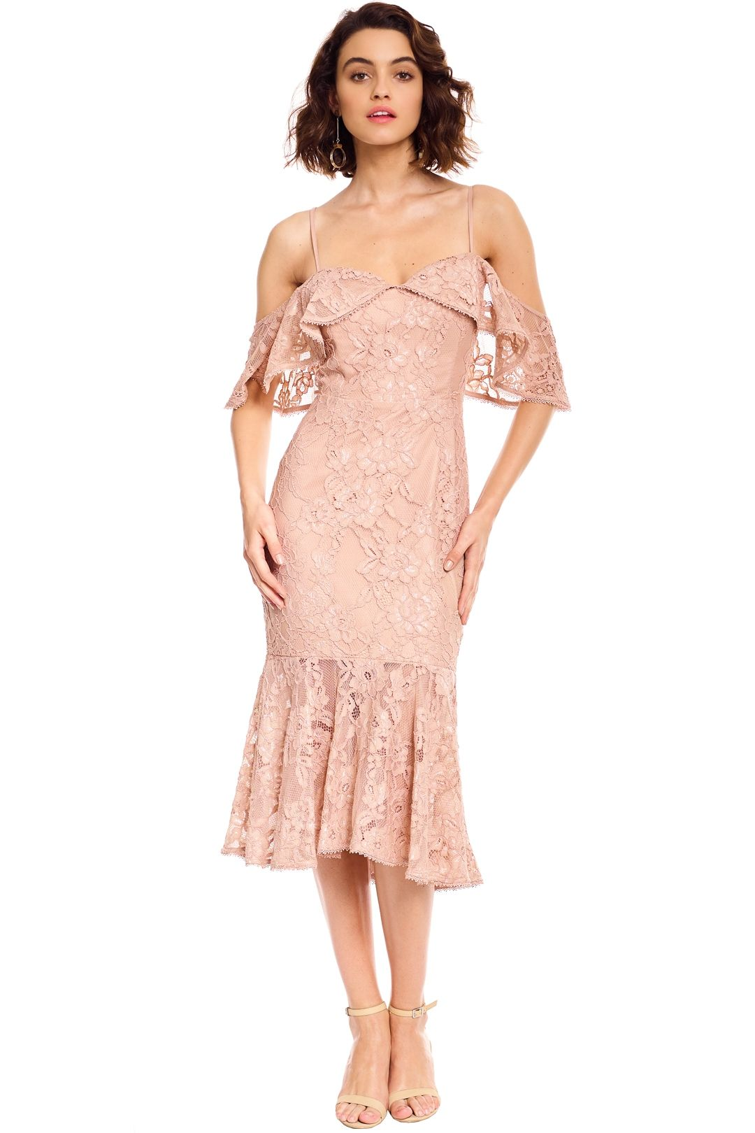 Rodeo Show - Manuela Lace Dress - Nude - Front