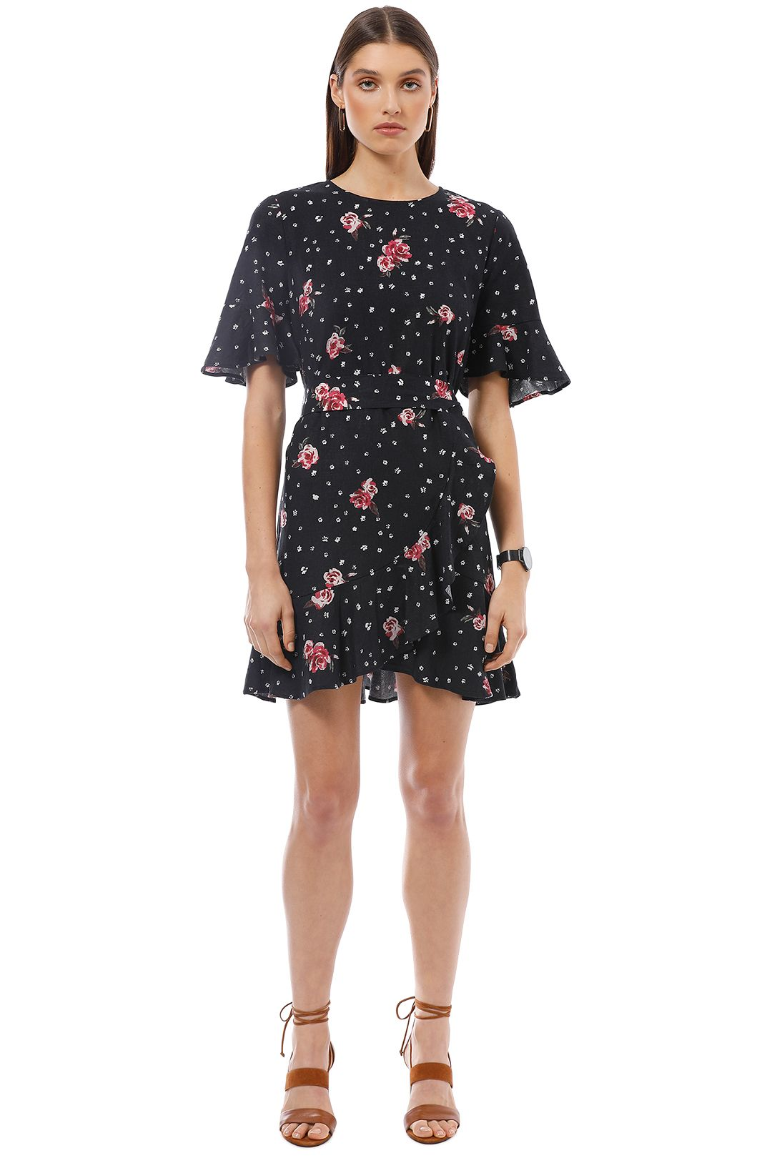Rodeo Show - Midnight Dress - Black Floral - Front