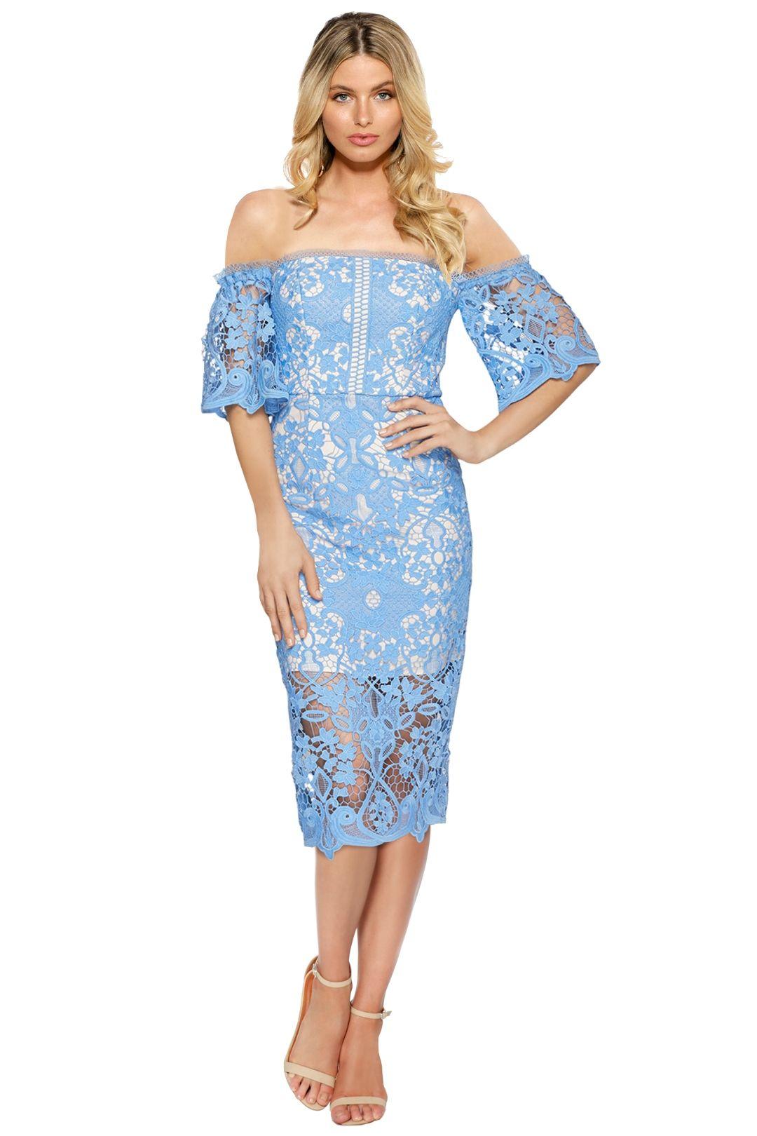 Rodeo Show - Odette Lace Dress - Blue - Front