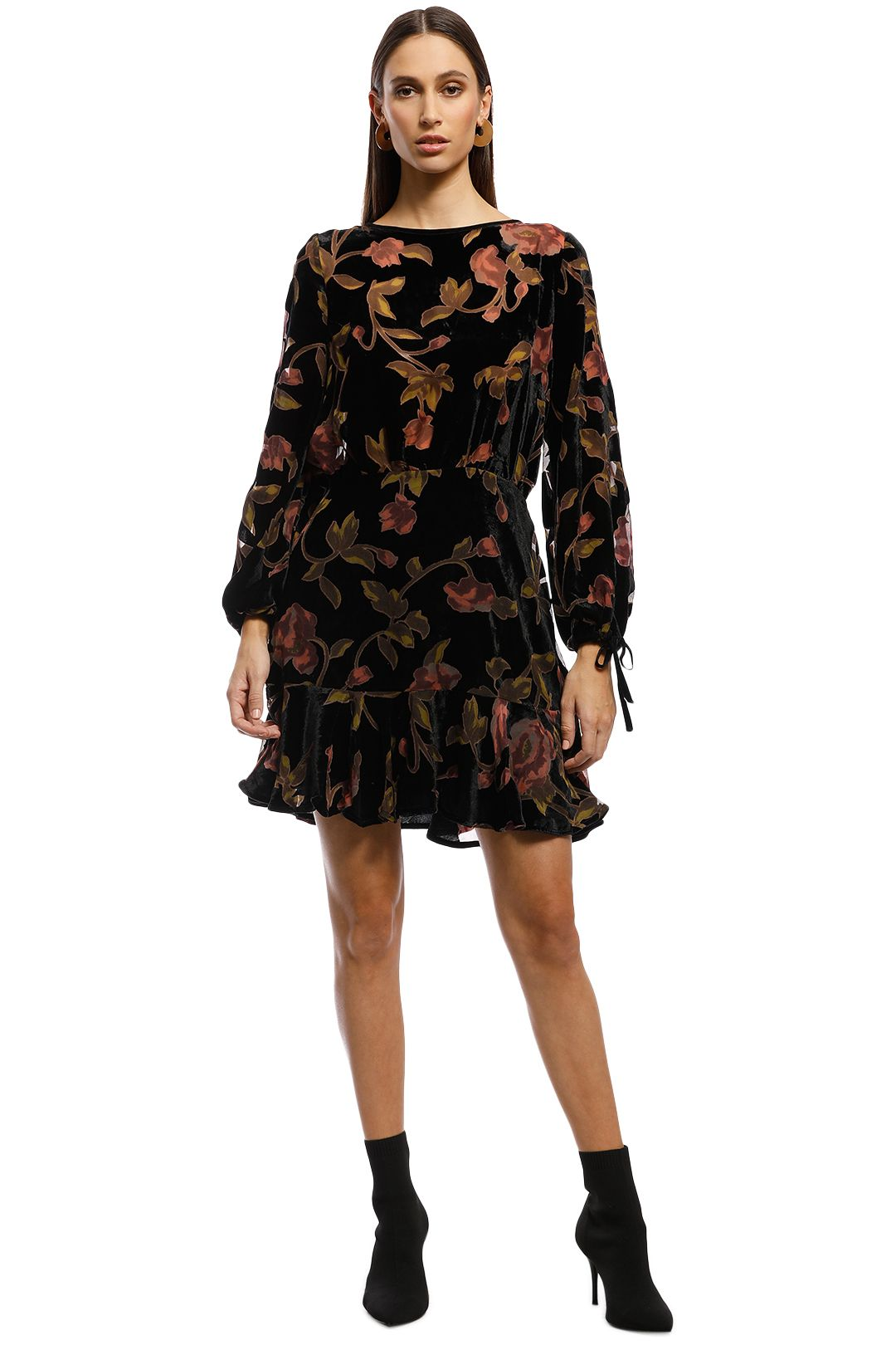 Rodeo Show - Samara Dress - Black Floral - Front