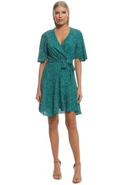 Rodeo Show - Sara Spot Mini Dress - Green - Front